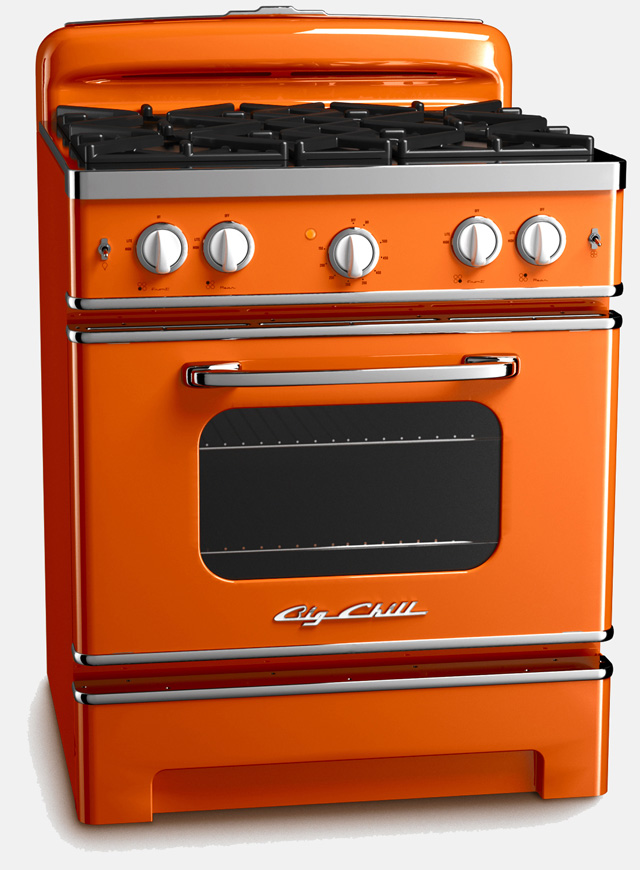 kitchen appliances: orange kitchen appliances