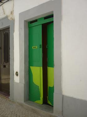 Puerta en Olhao.