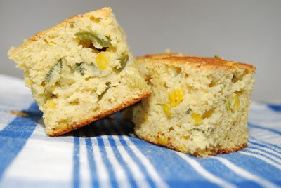 Jalapeno, Scallion and Avocado Corn Bread