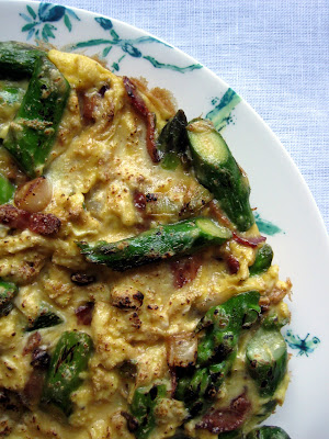 Asparagus, Bacon & Scallion Frittata