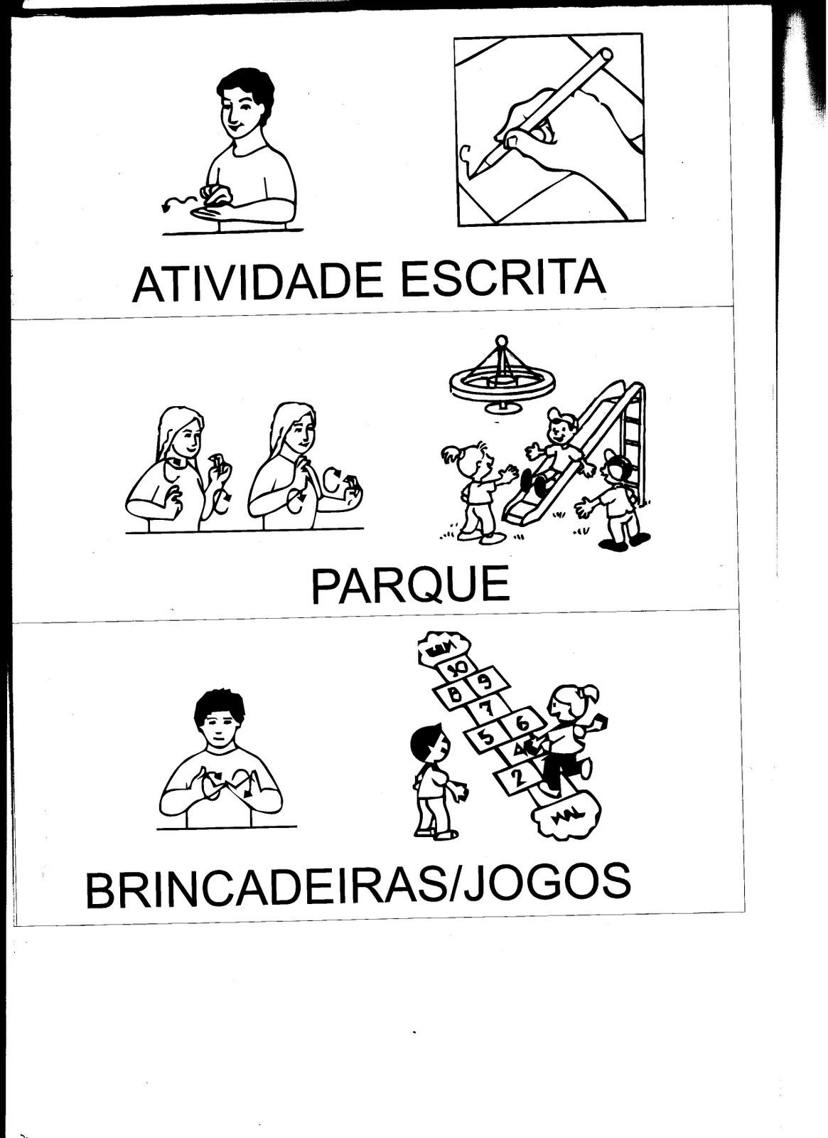 Viva a inclusão!: Atividade em LIBRAS Rotina sinalizada #666666 1165 1600
