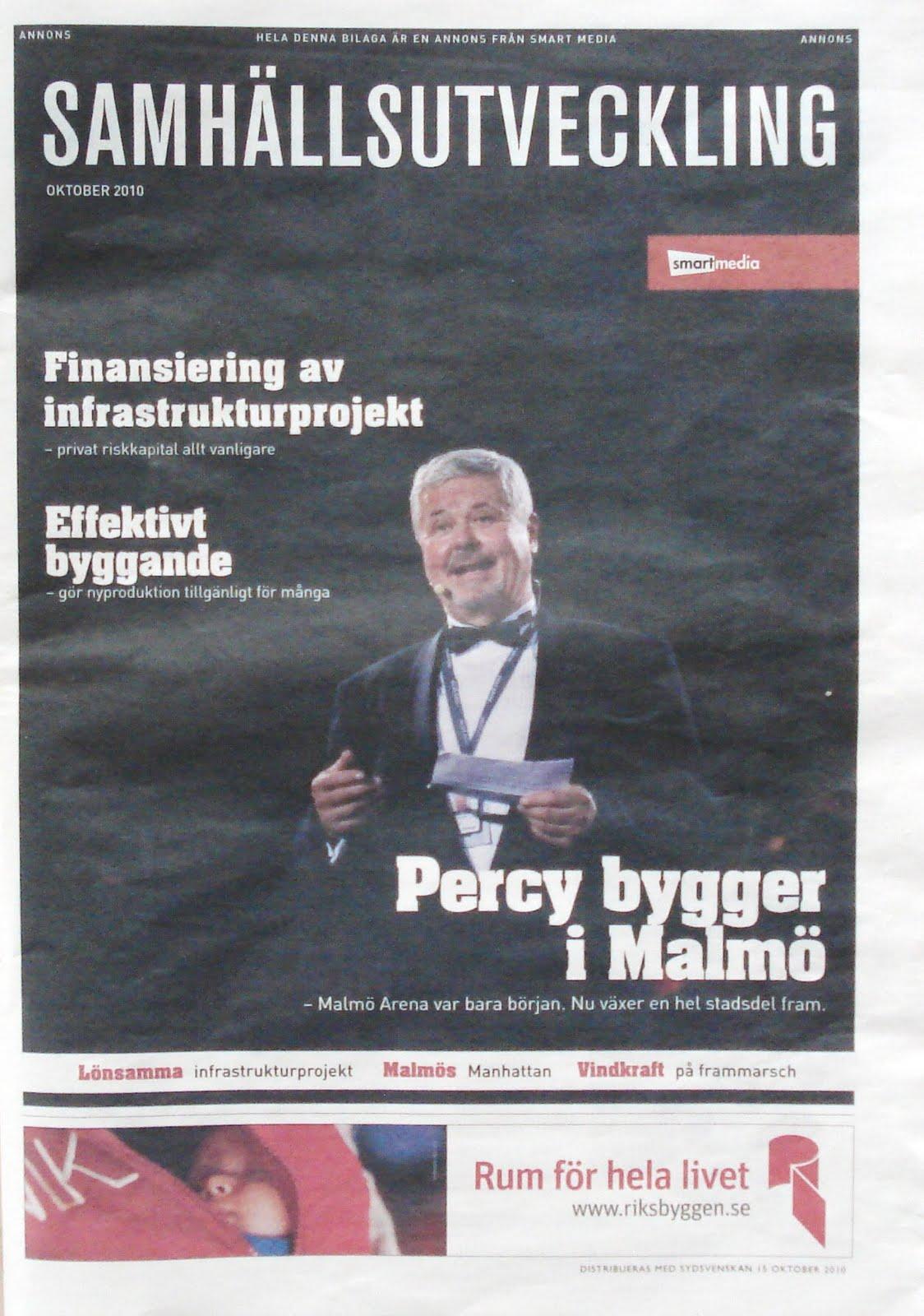 """Fasten seat belt and no smoking för nu blir det rena motorsågsmassakern mot  en """"tidning"""". Den ramlade ur Sydsvenskan i dag. Samhällsutveckling heter  den. a36cd6a9acd08"""