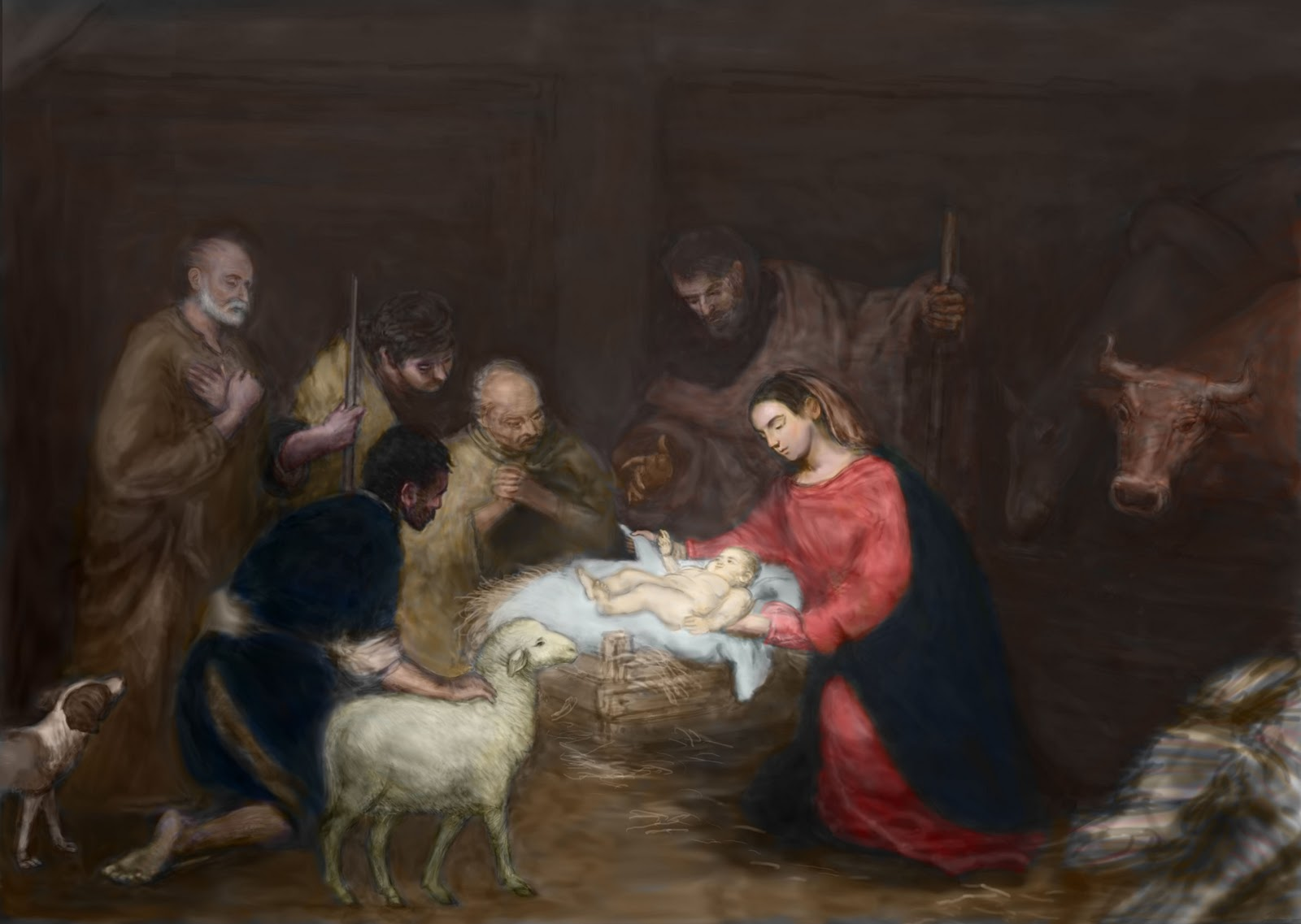 Famous Painting of the Nativity http://wlmosley.blogspot.com/2010/11/nativity_19.html#!