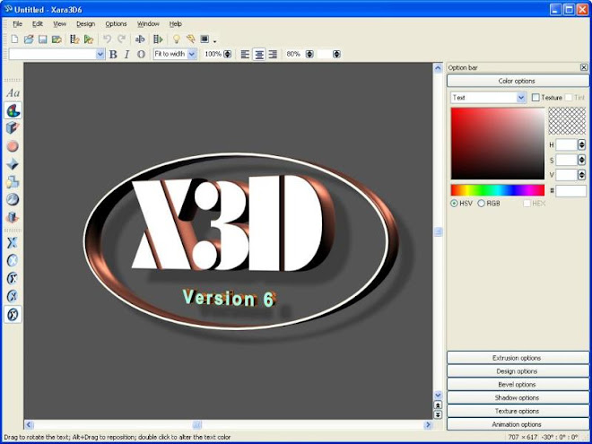 Beschreibung Bei Xara3D, einem 'schlanken' Programm, mit dem Sie