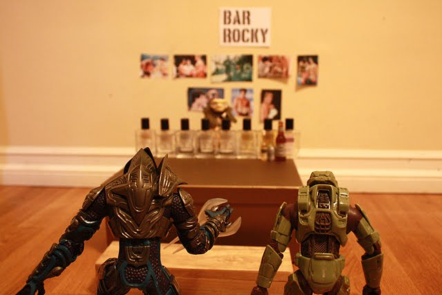 master chief off duty, rocky bar part1