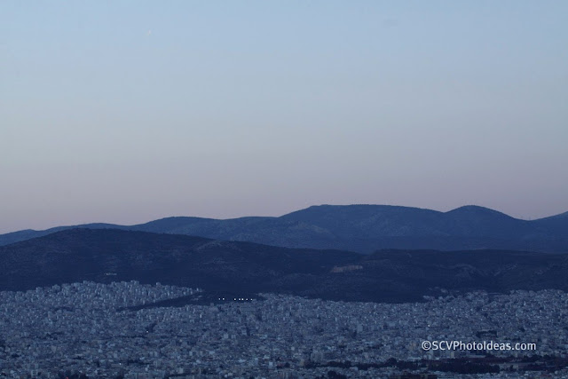 Twilight over Athens - north west suburbs