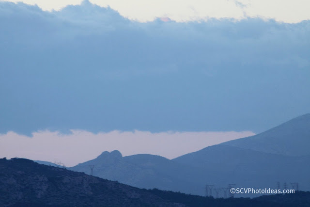 Twilight over Athens - clouds over city