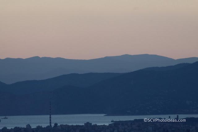Twilight over Athens - mount Aegaleo