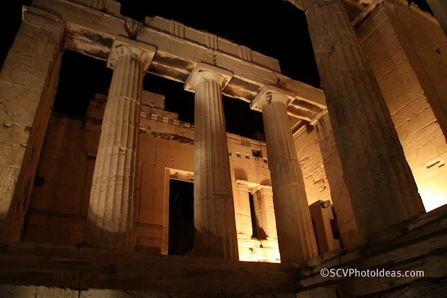 Acropolis propylaea (entrance) overview