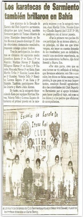 """ABIERTO DE ARTES MARCIALES """"COPA CLUB UNIVERSITARIO"""" BAHIA BLANCA 25/07/2001"""