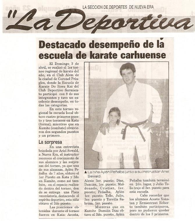 TORNEO DE KARATE DO ITOSU KAI - CORONEL PRINGLES ... 03-04-05
