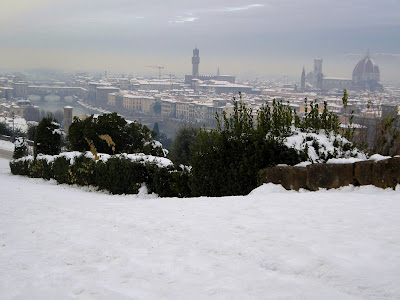 nevicata Firenze