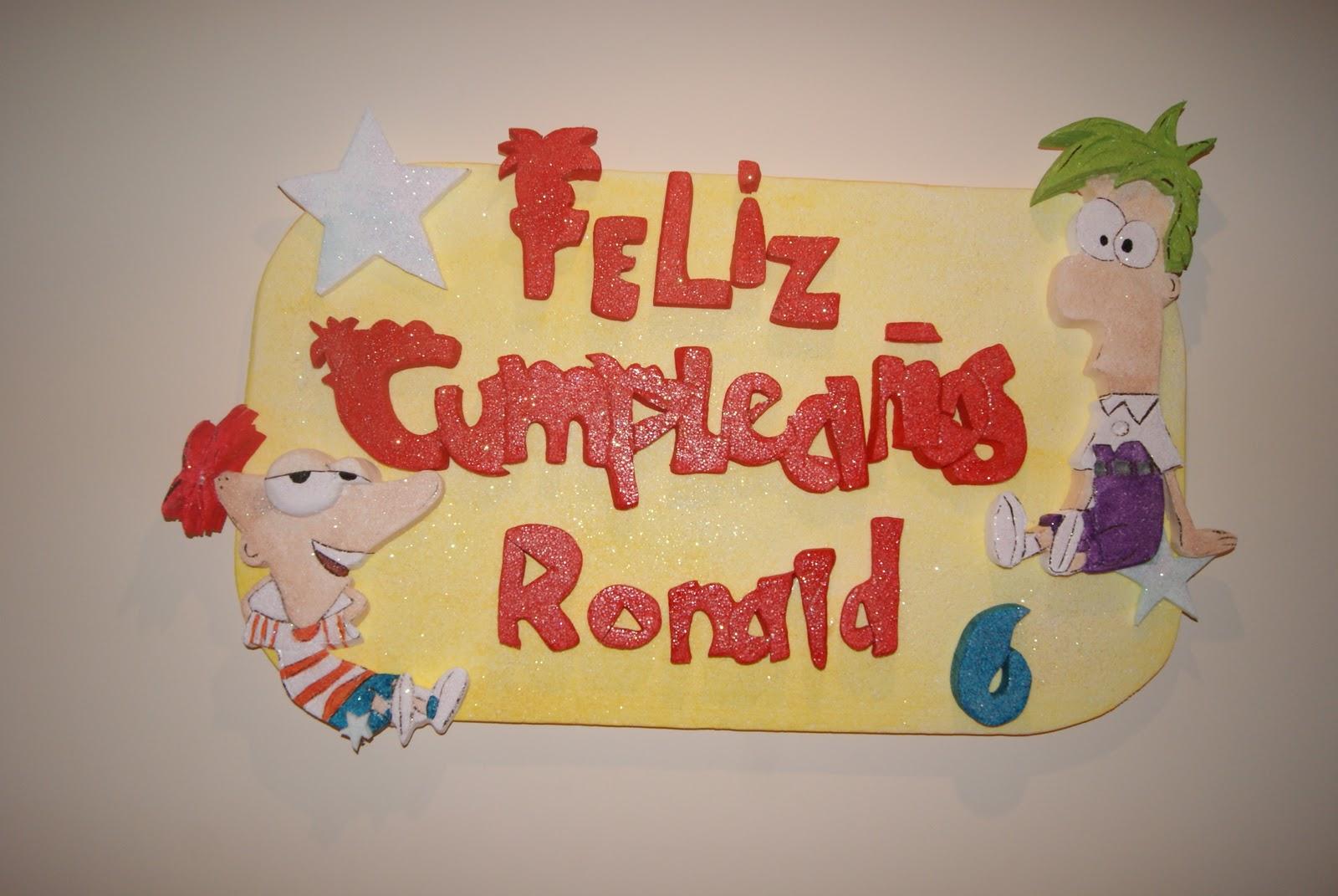 Decoración para Fiestas en Icopor ó Poliespan: Phineas y Ferb