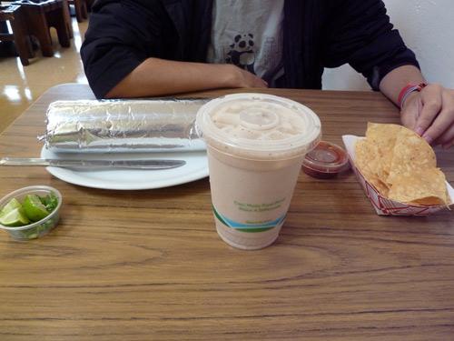 pancho villa's burrito meal