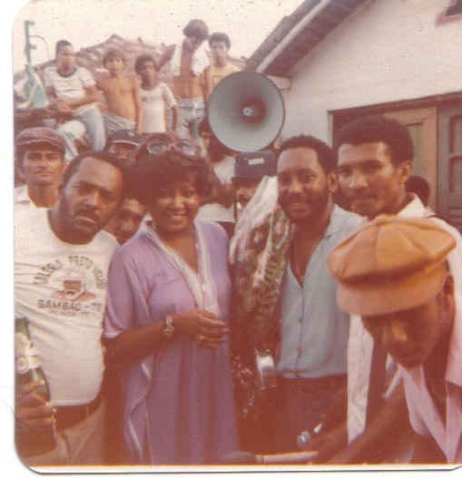 Visita da Cantora Alcione em 1980 ! acervo de Edson Lobo !