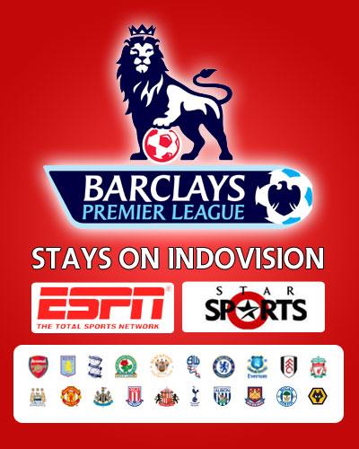 Tayangan lengkap Liga Inggris 2010-2011 di Indovision. Program olahraga terbaru dari Indovision.