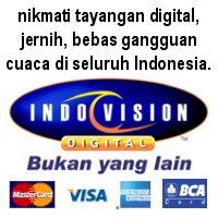 Nikmati tayangan jernih dan digital bersama Indovision.