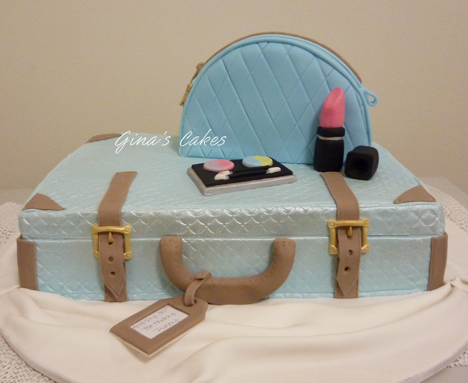 Top That Suitcase Make Up Bag Cake Pennys 30th Birthday
