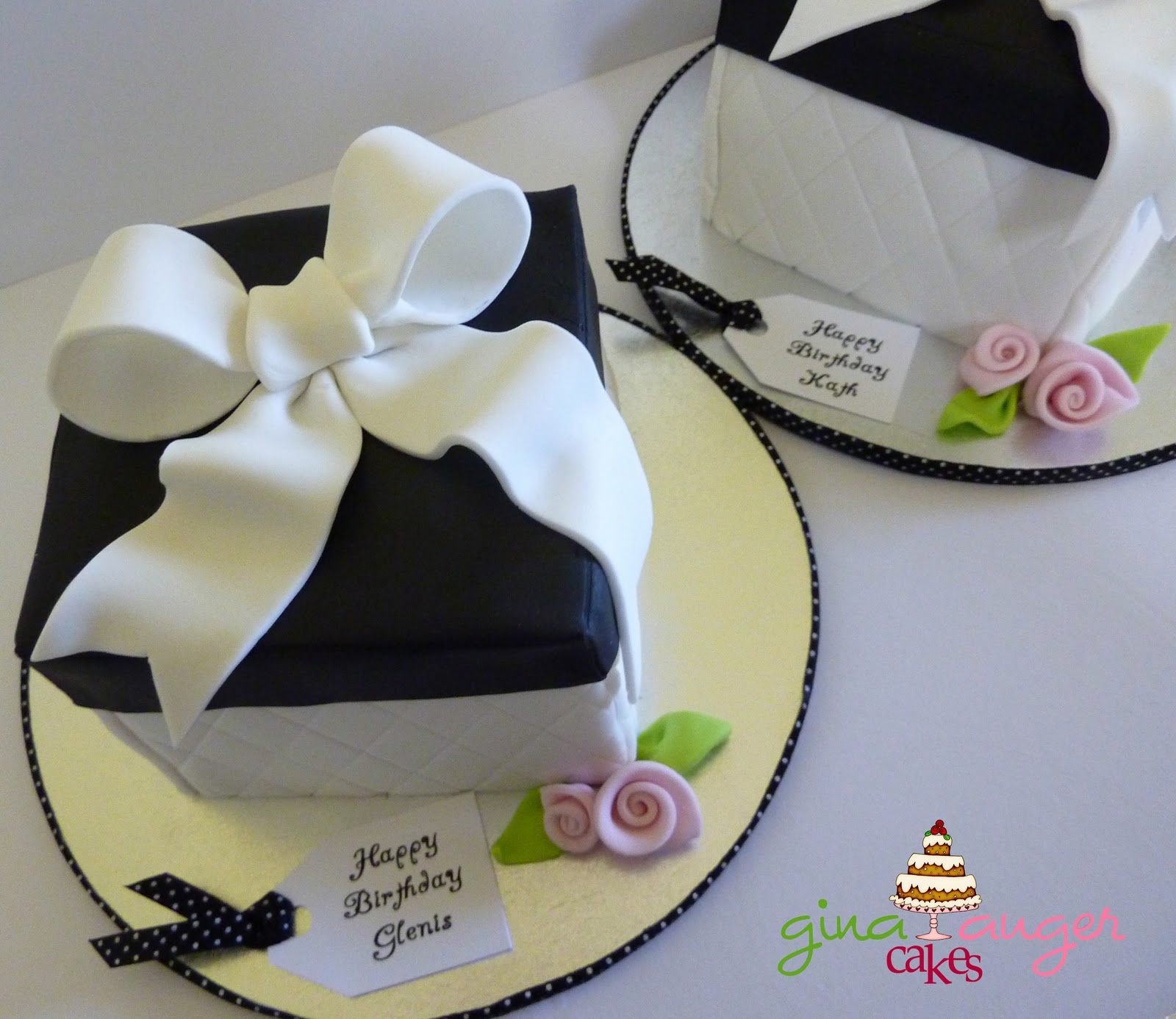 Top that mini black white gift box cakes mini black white gift box cakes negle Images