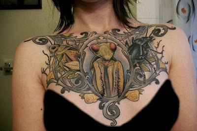 Beautiful Insect Tattoo Art Pictures