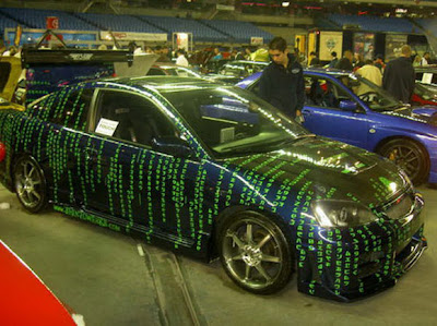 Custom Painted Cars in Matrix style