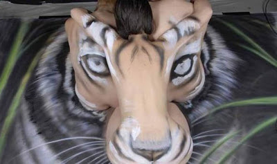 Optical Illusion Of A Tiger