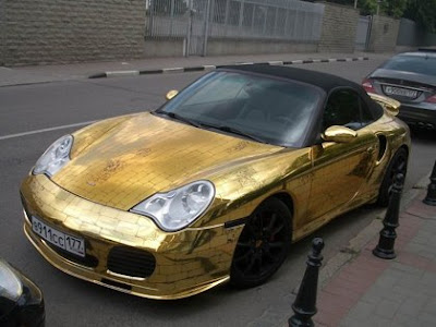 Amazing Custom Made Golden Porsche
