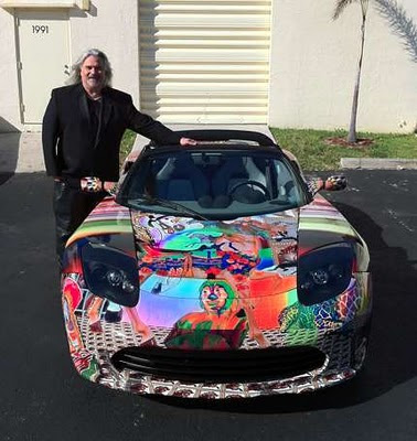 Psychedelic Custom Car