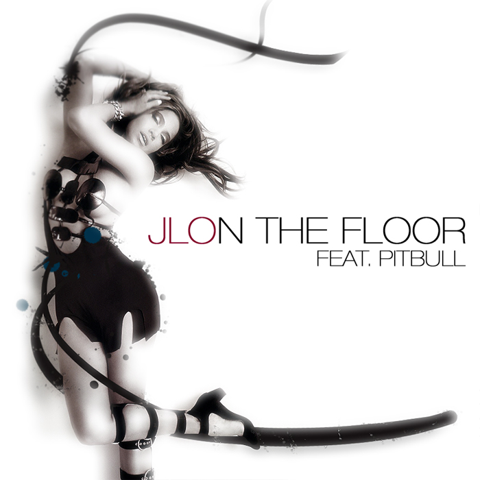 single album art jennifer lopez on the floor ft. pitbull. single album art jennifer