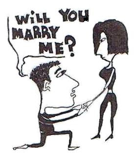 marriage proposal, cartoon