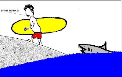 SURFING,SHARK,CARTOON,WEBCOMIC