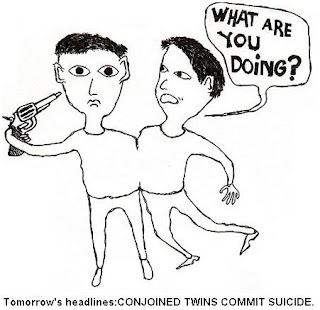 CONJOINED TWINS CARTOON