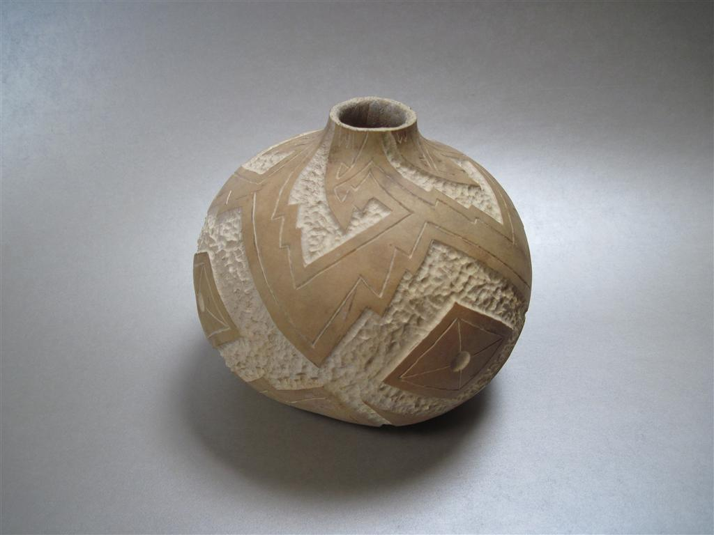 Pueblo pottery style gourd from start to finish