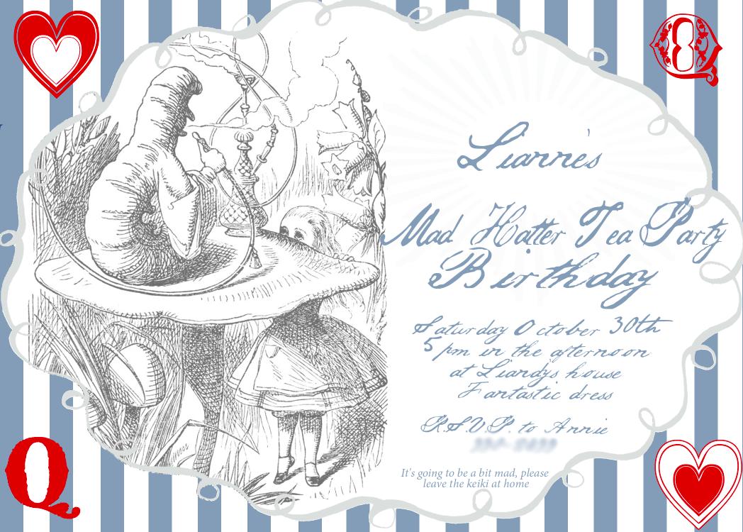 mimi-creates: Lianne\'s Mad unbirthday birthday party invitation