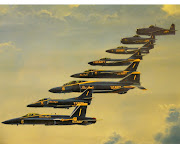 Aircraft: a small airplane that made for fight against the other airplanes . (blue angels aircraft to )