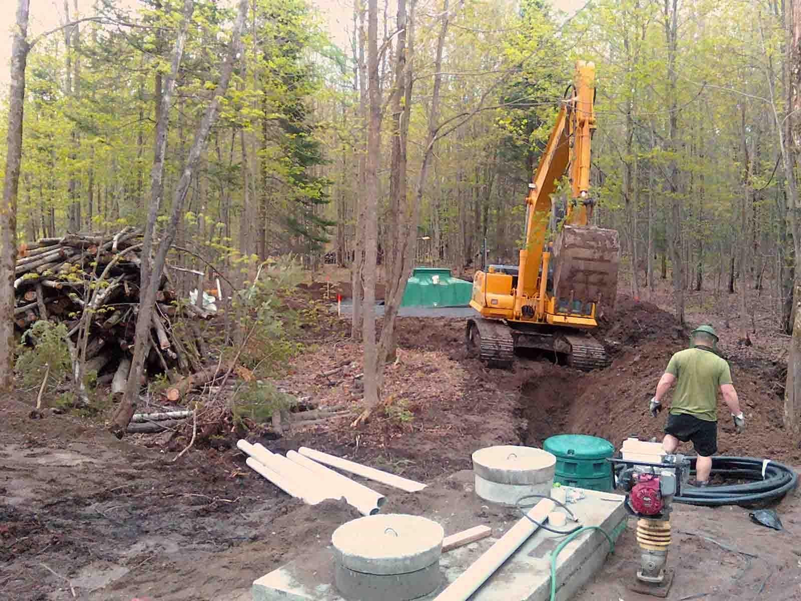 Une belle cabane de bois de paille et d 39 argile bient t for Vinaigre blanc dans fosse septique