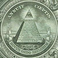 El ojo de la providencia. Signo masónico en billete de un dólar