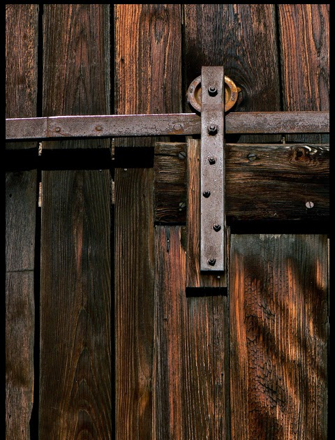 image of complete barn door track system
