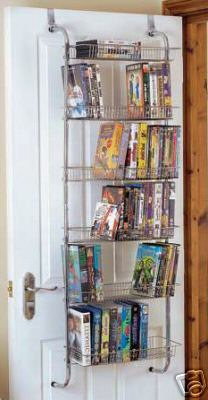 ASCOT Over Door Silver Wire CD DVD VHS Storage MS0035x2 & Wendyu0027s World: More Storage Ideas