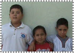 Saúl, Kevin y Jonathan de 1º B