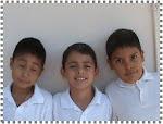 Josué, Jorge y Omar de 3º A
