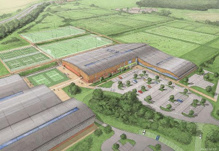 Artist's impression of the new Surey Centre for Sport