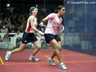 Alison Waters v Engy Kheirallah in the final