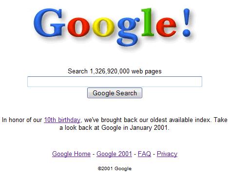 google 1997. Google