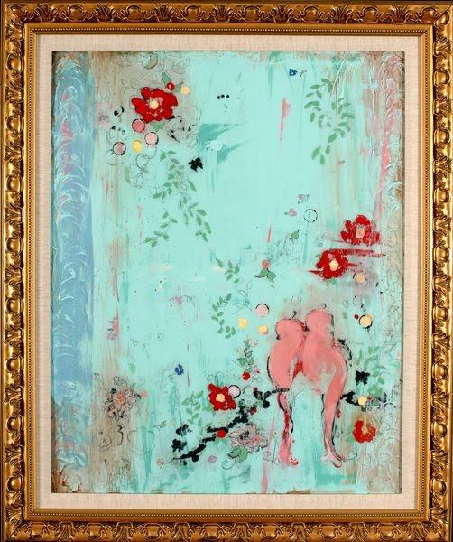 Modern Chinoisie Style Painting - Kathe Fraga