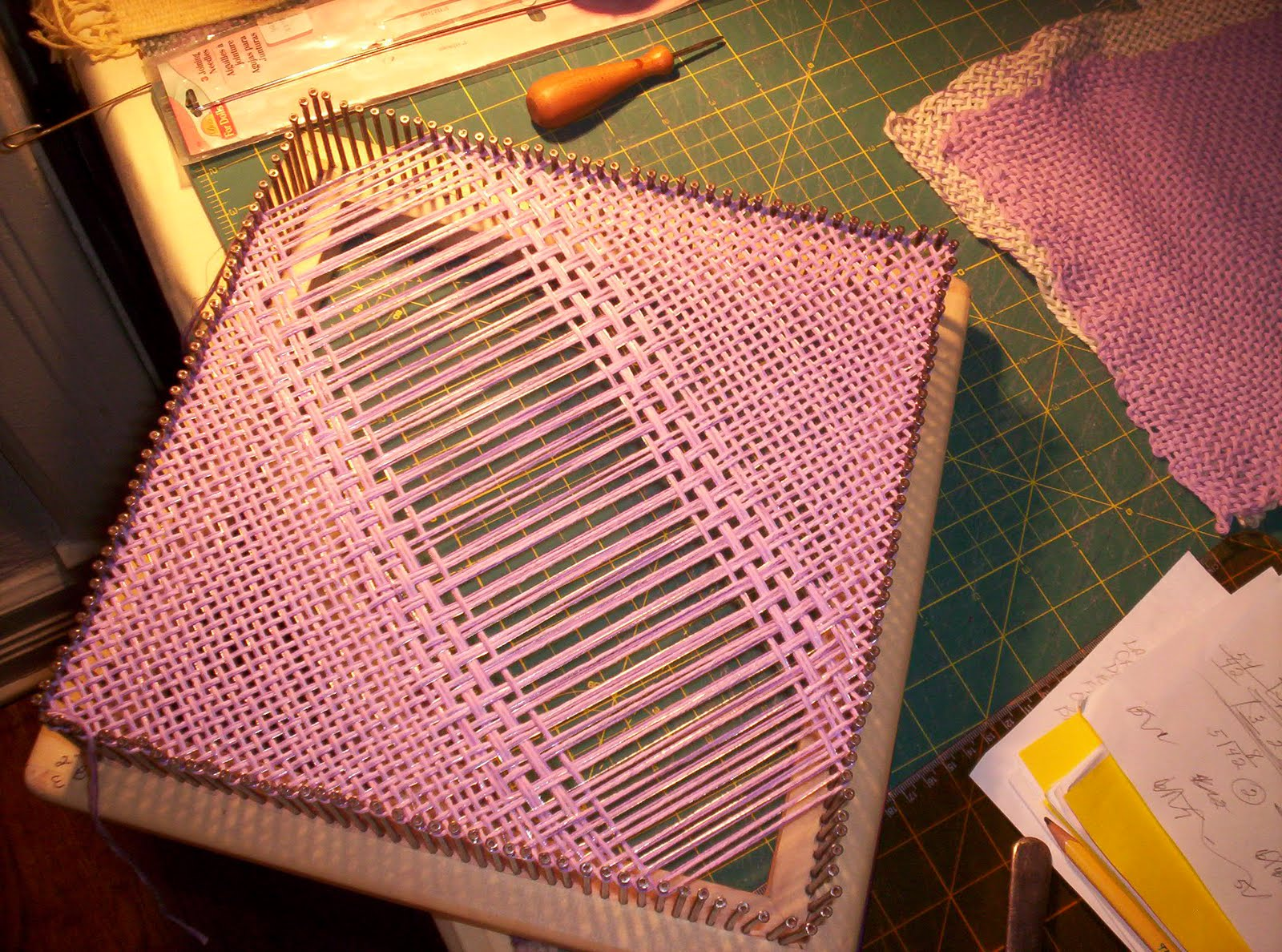 Basket Weaving Expression : Earth baskets homemade pot holder loom