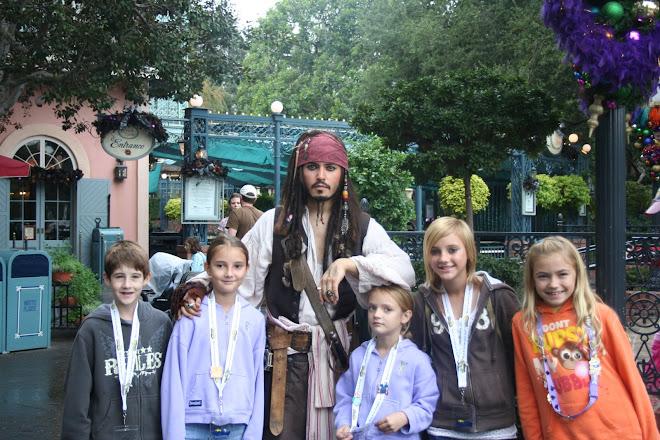 Capt. Jack Sparrow w/the kids