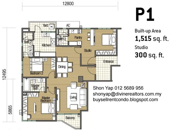 Buy sell rent condominiums olives residencial floor plans for Purchase floor plan