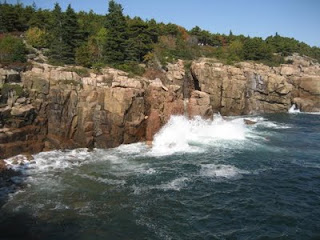 Rocky shoreline of Mount Desert Island