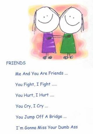 Funny Best Friend Poems Yellow Color Wa...